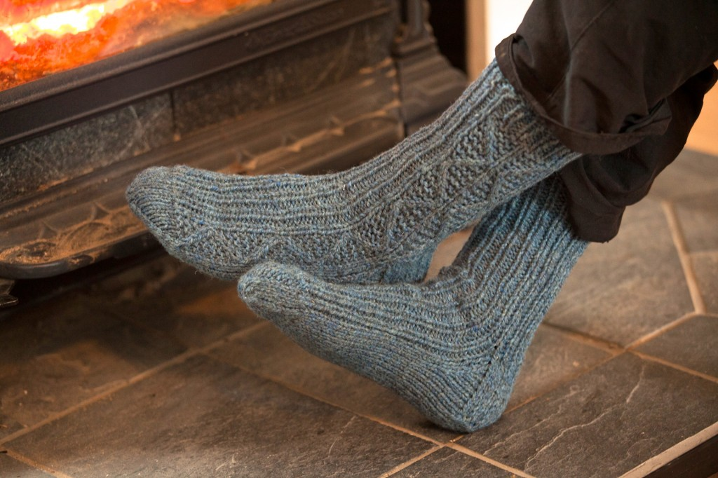 woodstove:socks brightened
