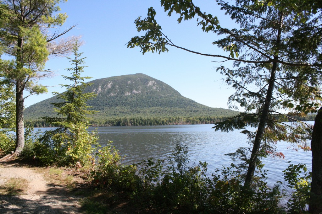 "This is ""Little"" Spencer Mountain as seen from Spencer Pond Camps."