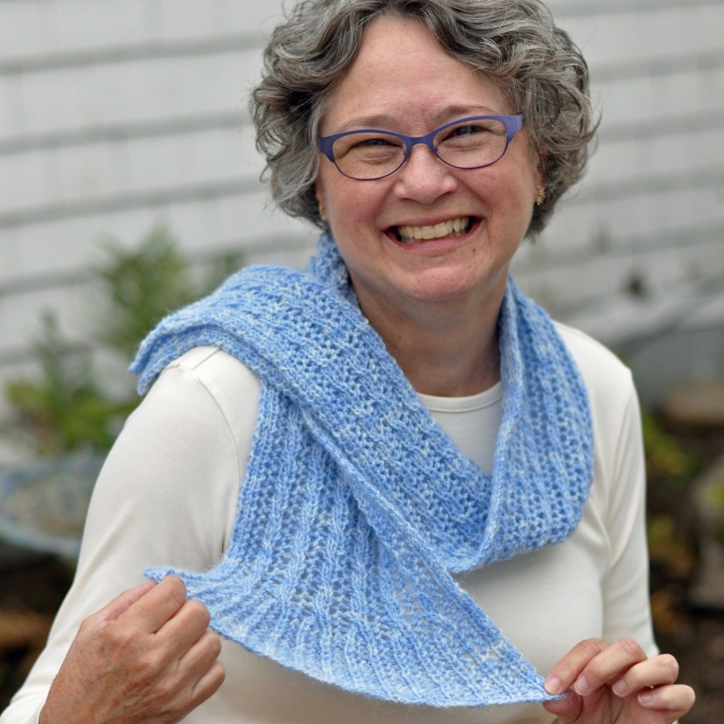 Cable and Flare Scarf